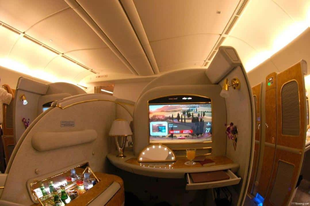 dreaming of luxurious travel and flying first class