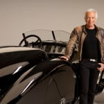 Fashion designer Ralph Lauren with one of his classic cars