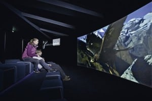 Cinema screen at PeakWorld 3000, Kitzsteinhorn, Austria