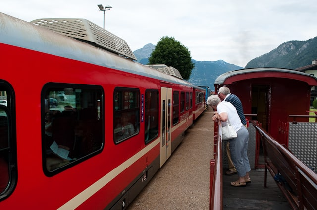 Old meets new on the Zillertal Steam Railway, Zillertal, Austria
