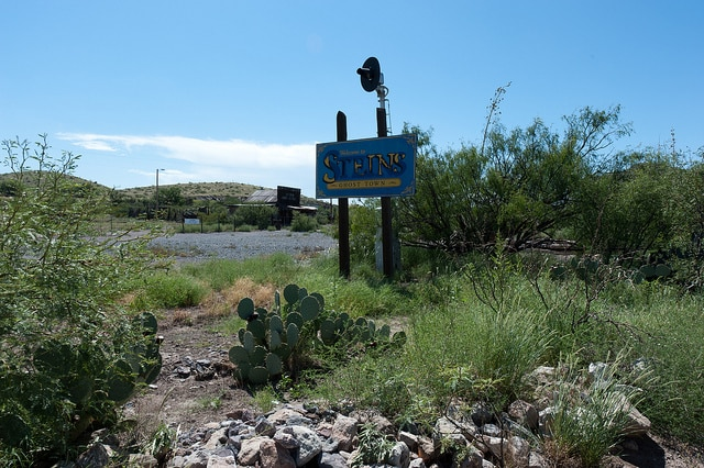 Steins railroad ghost town in New Mexico, America