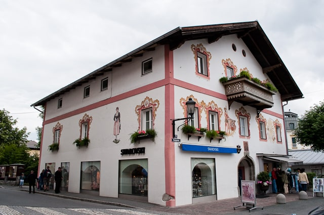 Swarovski crystal shop in Zell Am See, Austria