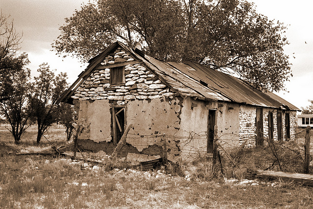 Yeso ghost town in New Mexico, America
