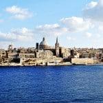 Valletta, Malta viewed from Sliema