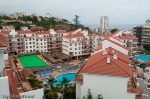 A bird's eye view of timeshare resort Club Casablanca, Puerto de la Cruz Tenerife
