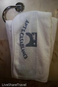 An abundance of towels at timeshare resort Club Casablanca, Puerto de la Cruz Tenerife