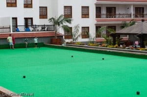 Anyone for bowls at timeshare resort Club Casablanca, Puerto de la Cruz Tenerife