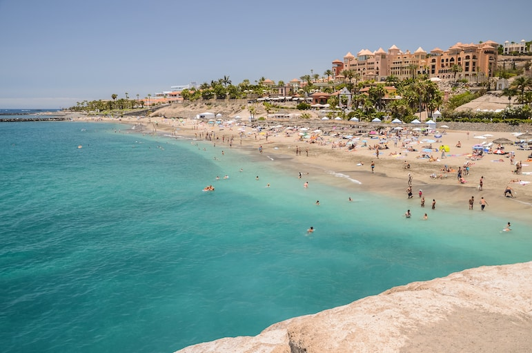 Among the best beaches in Tenerife is Del Duque Beach