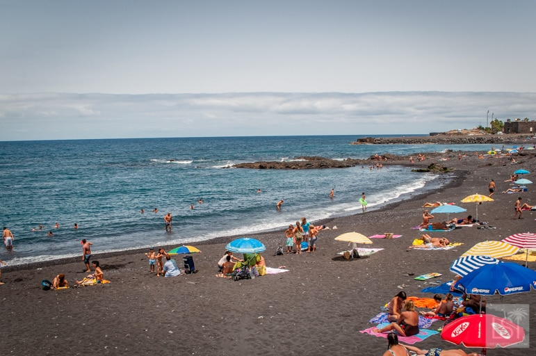 In Puerto de la Cruz is Playa Jardin, one of the best beaches in Tenerife