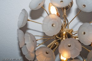 Ornate lighting in our timeshare apartment at Club Casablanca