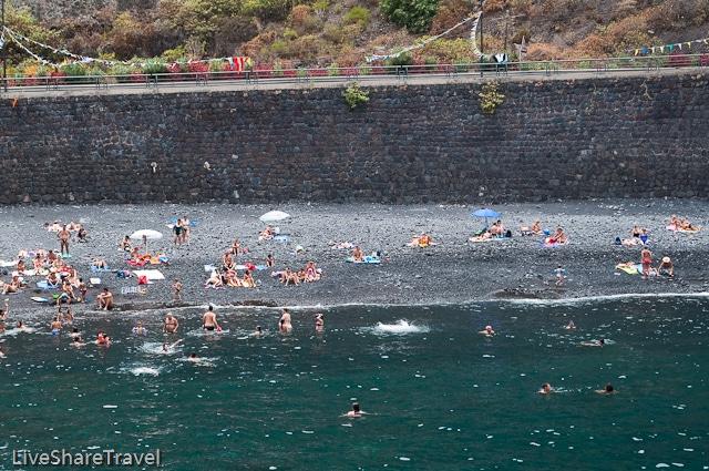 Playa El Muelle is one of the best beaches in Tenerife's Garachico