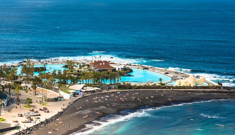 Best beaches in Tenerife, try Playa Martiánez