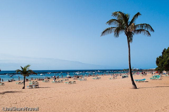 Playa Teresitas one of the best beaches in north Tenerife