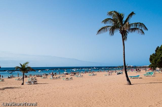 Playa Teresitas one of the best beaches in north Tenerife
