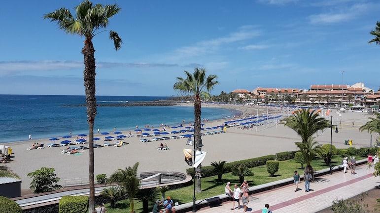 Playa de Las Vistas beach, one of the best beaches in Tenerife