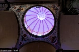 Stained glass windows in the dome of Iglesia de la Concepcion - the main church in La Orotava