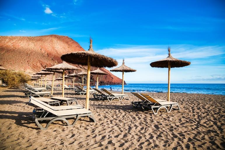 Beaches in Tenerife include Playa de la Tejita