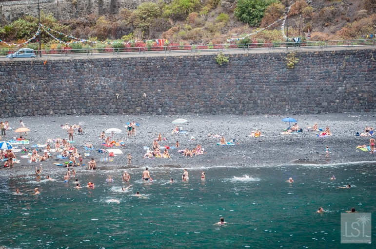 Tenerife beaches include Playa El Muelle, also known as the Harbour Beach, Garachico