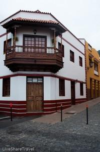 Like La Orotava Garachico's buildings feature wood balconies