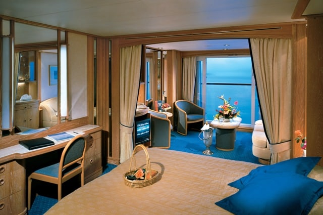 Seabourn Quest, owners suite. An ultra luxury cruise ship