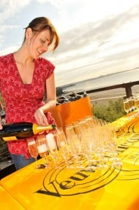 Polo on the beach has been sponsored by Veuve Clicquot