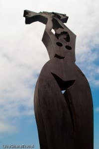 Statue at Garachico's harbour
