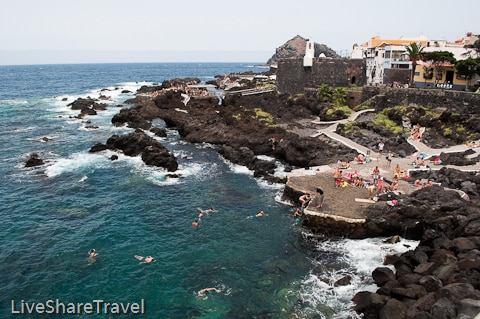 View of the rock pools at Garachico, one of Tenerife's northern delights