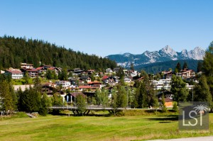 Looking over the Austrian Spa town of Seefeld