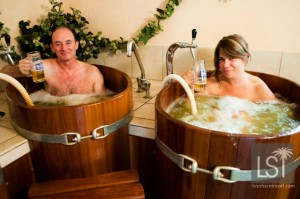 Naked beer baths in the Austrian Spa town of Seefeld