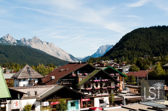 The backdrop to the Austrian Spa town of Seefeld