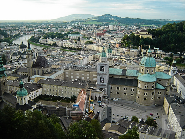 Things to do in Salzburg - take a look over the city from Festund Hohensalzburg castle