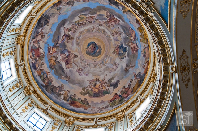Bergamo Cathedral, interior dome