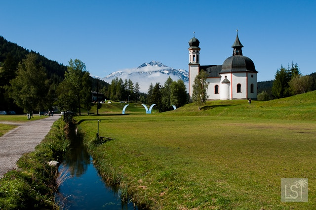 Little Church in the Lake in the Austrian Spa town of Seefeld