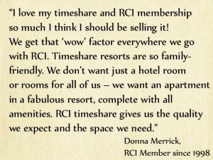RCI Member Donna Merrick on exchange holidays
