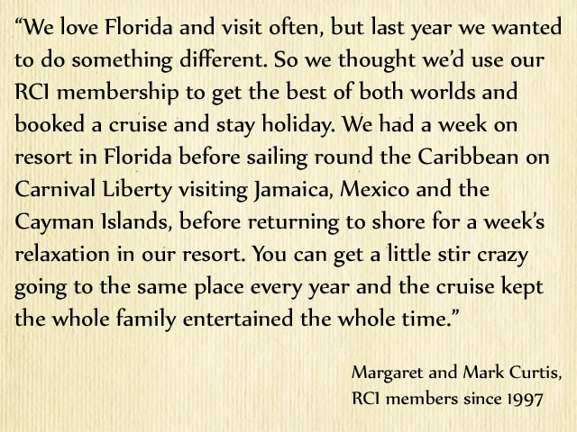 RCI members Margaret and Mark Curtis on RCI Travel