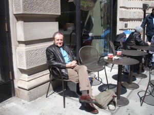 Exchange company, RCI member Colin Thomas in Manhattan