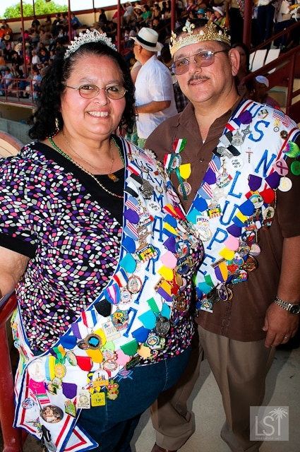 Maria and Lupe Calderon create their own Fiesta medals each year