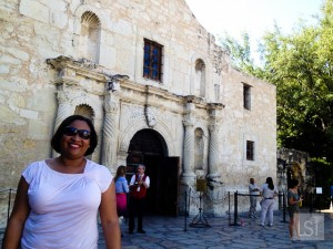 Taking a tour of the Alamo