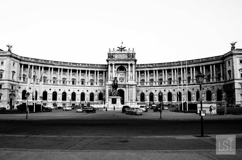 The Hofburg Palace is huge enough to fill a panoramic shot