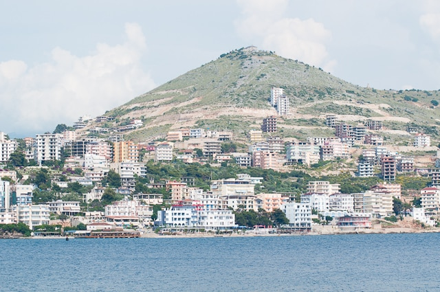 View of Saranda from the sea is a reason to travel to Albania