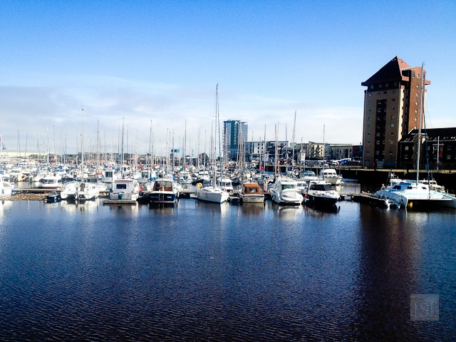 Swansea's docks has been transformed into a marina with waterside apartments, restaurants and bars