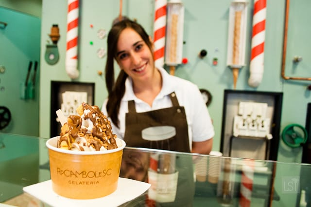 Gelato with a smile at Rocambolesc