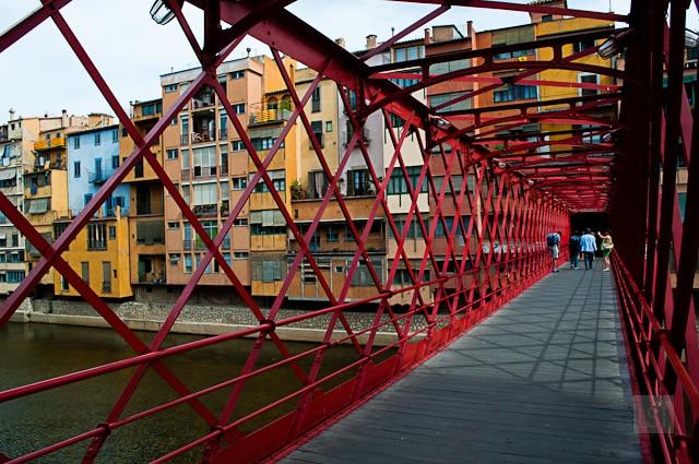 Pont de les Peixateries Velles, Girona, built by Gustave Eiffel