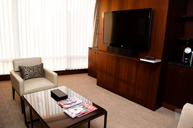 Living area of my suite, Shangri-La Toronto