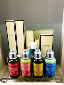 An excellent selection of toiletries at the Shangri-La Toronto