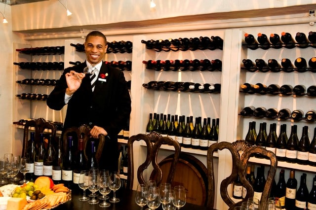 The Oyster Box's sommelier in their extensive wine cellar