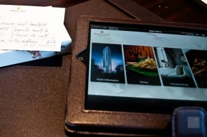 iPads are increasingly being offered in luxury hotels in place of hotel guides and are your one stop shop for all room service needs