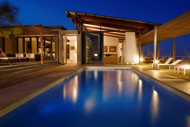 A Villa at night, Grootbos Private Nature Reserve