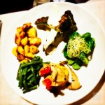 Ristorante Del Falco didn't have many pure vegetarian dishes on the menu, but Vince whipped up this veggie delight for Terry, with pumpkin flan and sauteed cep mushrooms