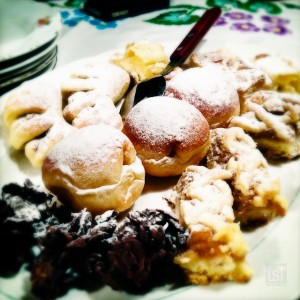 Traditional Austrian desserts at Erika's Buschenschank